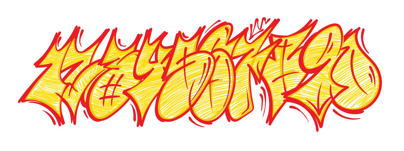 Ustawia graffiti liczby ilustracja wektor