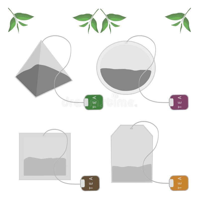 Ustawia herbacianą torbę obraz stock