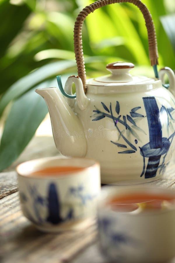 ustawia herbaty
