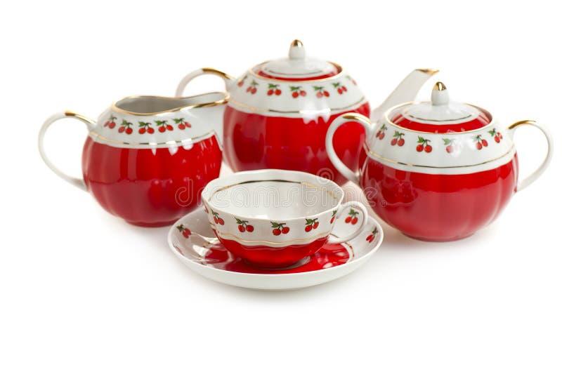ustawia herbaty obraz stock