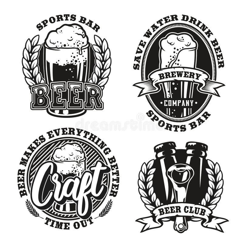 Ustawia ilustrację piwo na białym tle ilustracji