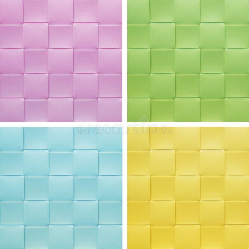 Ustawia inkasowego kolorowego Placemat, zdjęcia stock