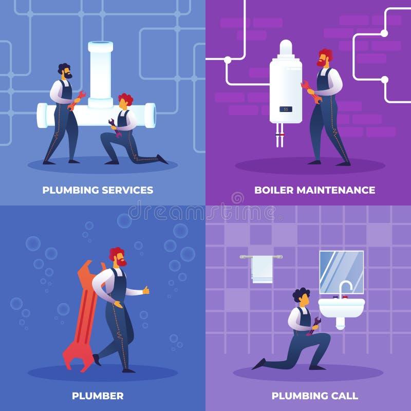 Ustawia instalacji wodnokanalizacyjnych usług wezwanie, Kotłowy utrzymanie ilustracji