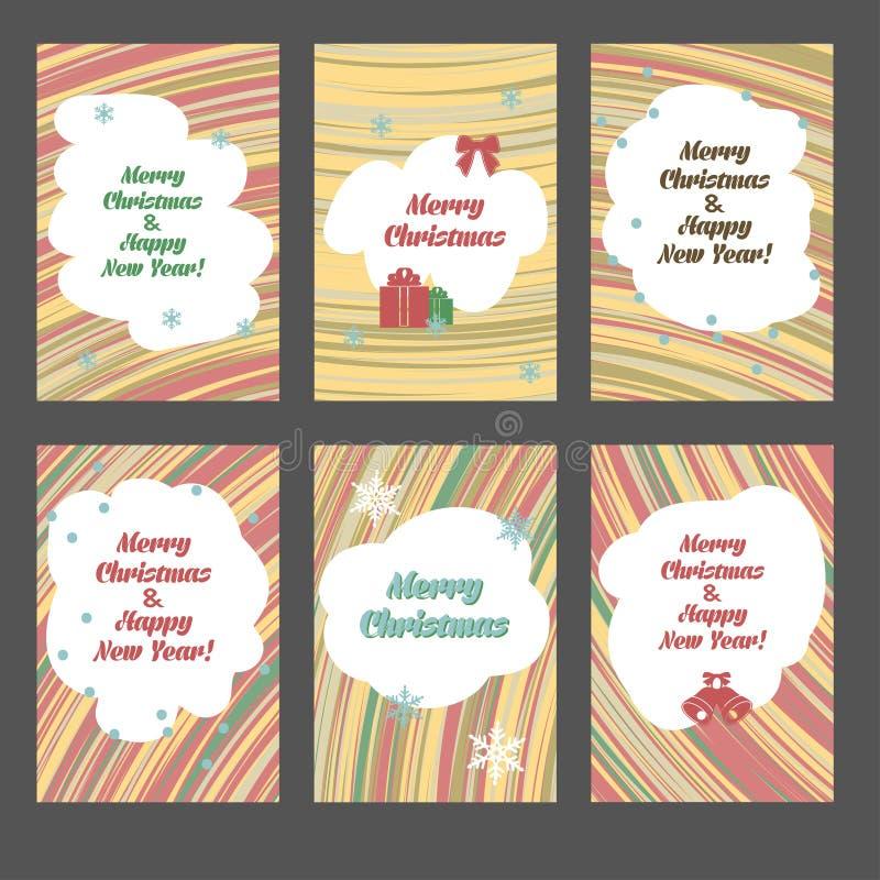 Ustawia kartki bożonarodzeniowa ilustracji