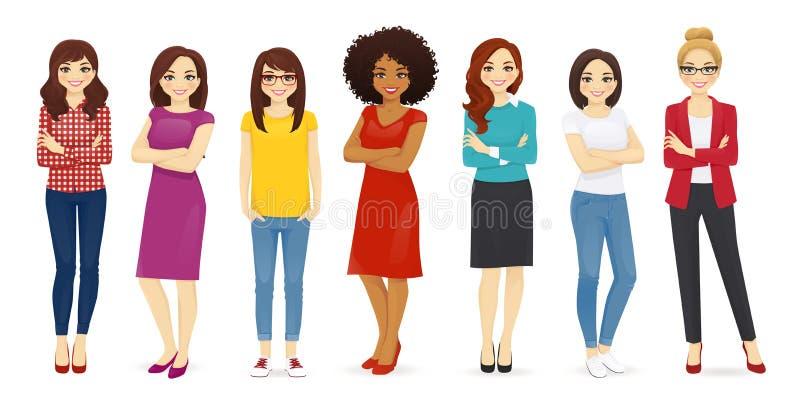 ustawia kobiety ilustracji