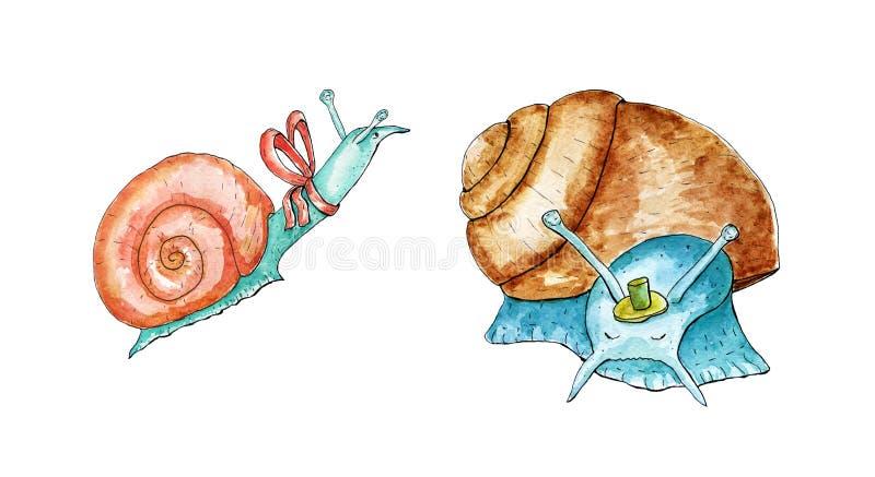 ustawia ?limaczki royalty ilustracja