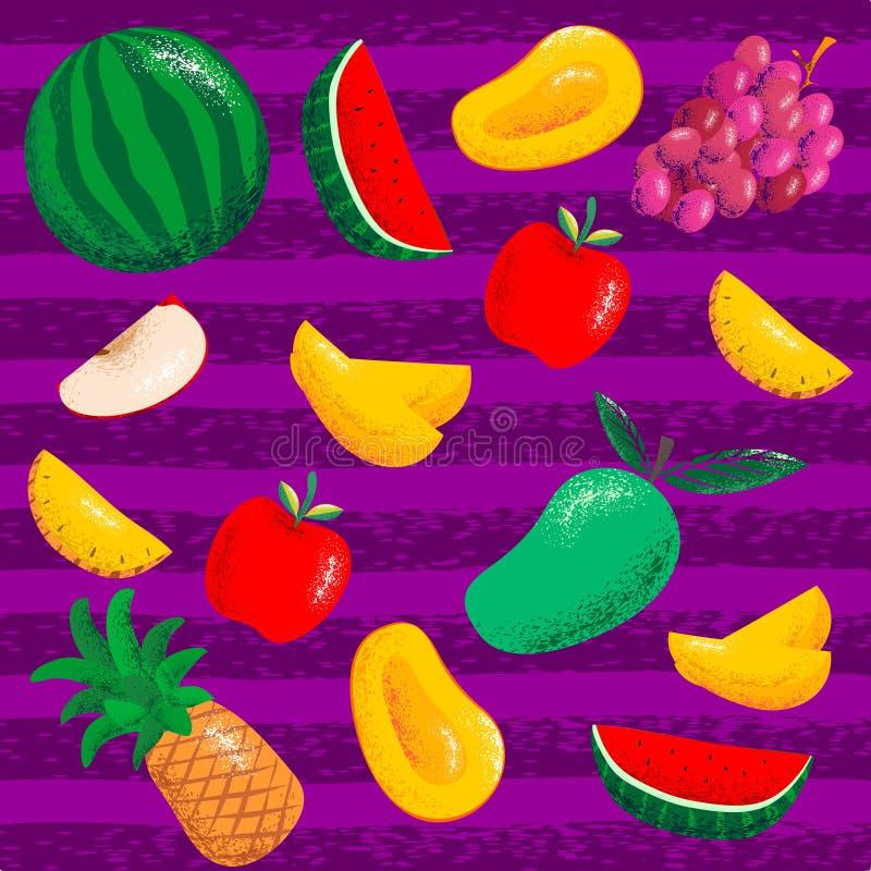 Ustawia owoc wzór ilustracji