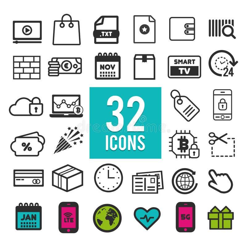 Ustawia płaskie ikony dla sieci i wiszącej ozdoby apps, interfejsu projekt EPS10 ilustracji