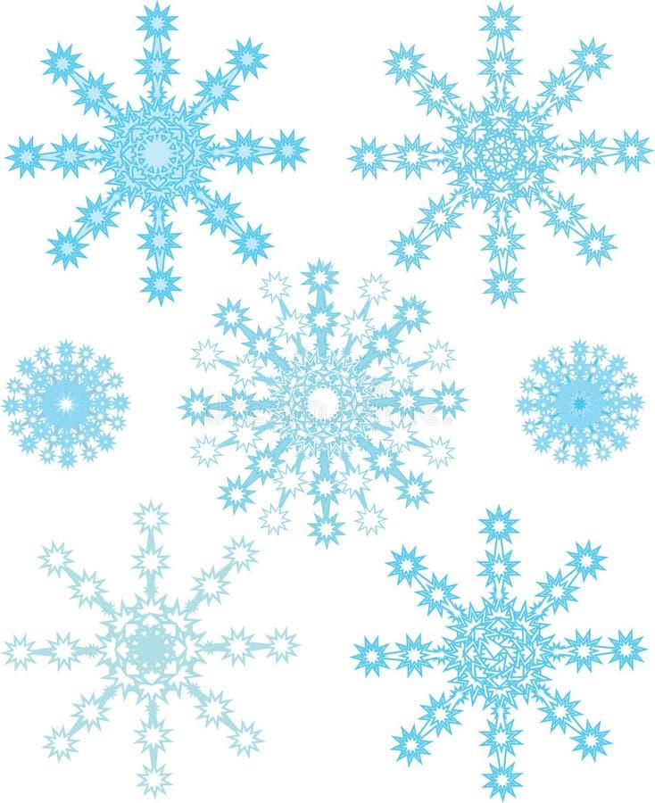 ustawia płatek śniegu zdjęcia stock