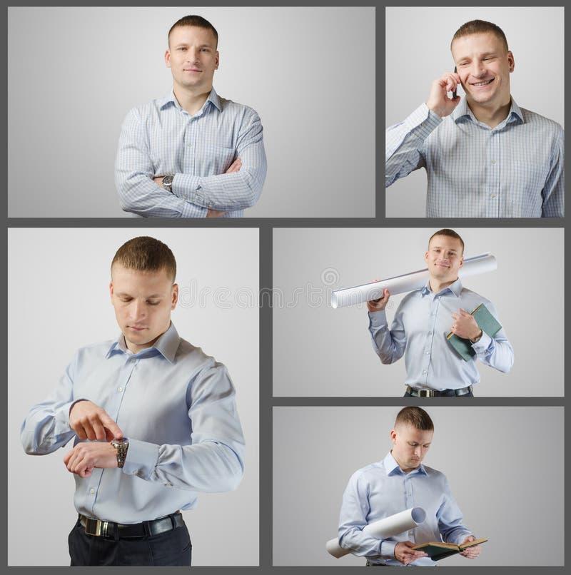 Ustawia portret młody biznesmen obrazy stock