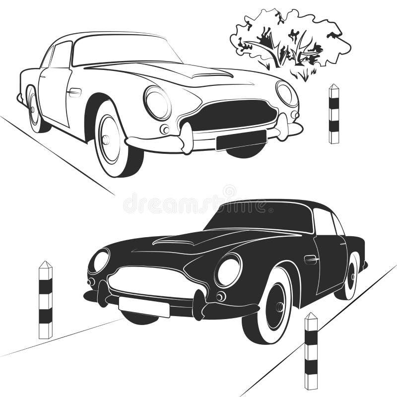 Ustawia samochody Audi R8 royalty ilustracja