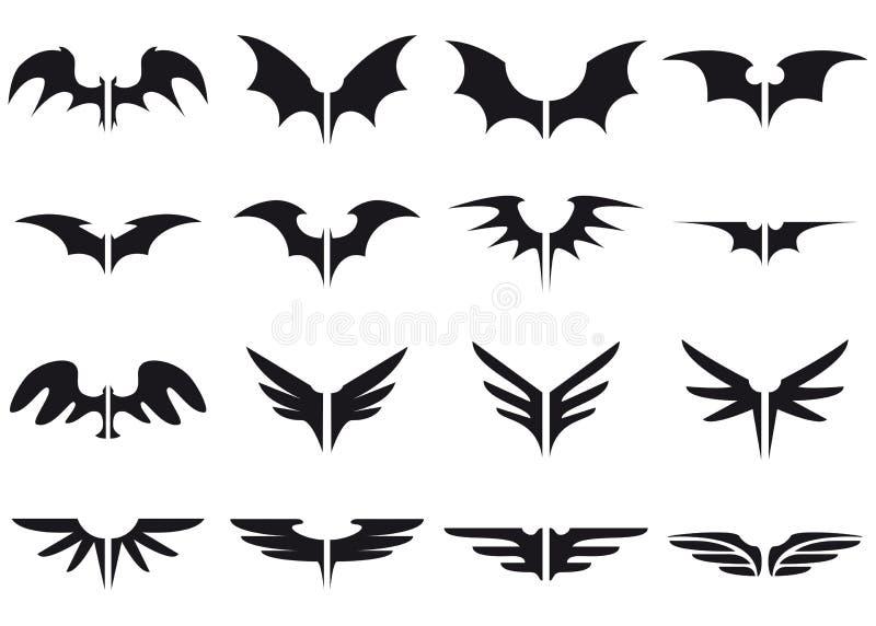ustawia skrzydła zdjęcie royalty free