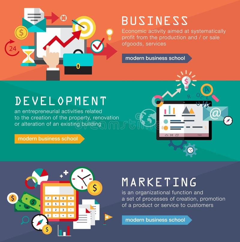 Ustawia sztandary dla sieć projekta, cyfrowy marketing ilustracja wektor