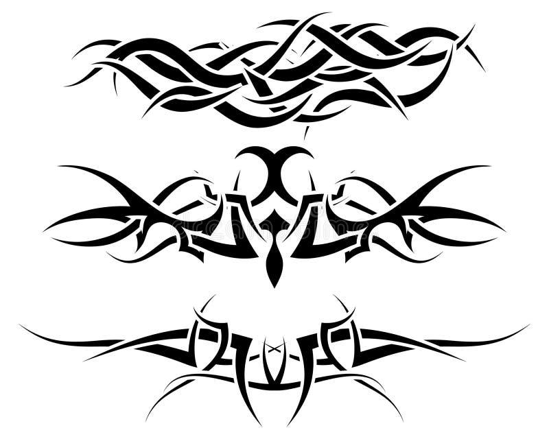 ustawia tatuaże ilustracja wektor