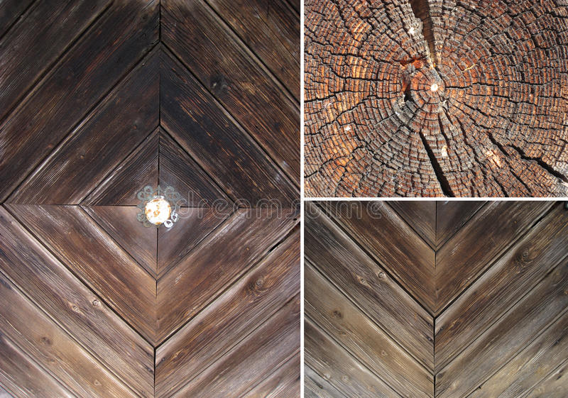 ustawia tekstury drewniane zdjęcia royalty free