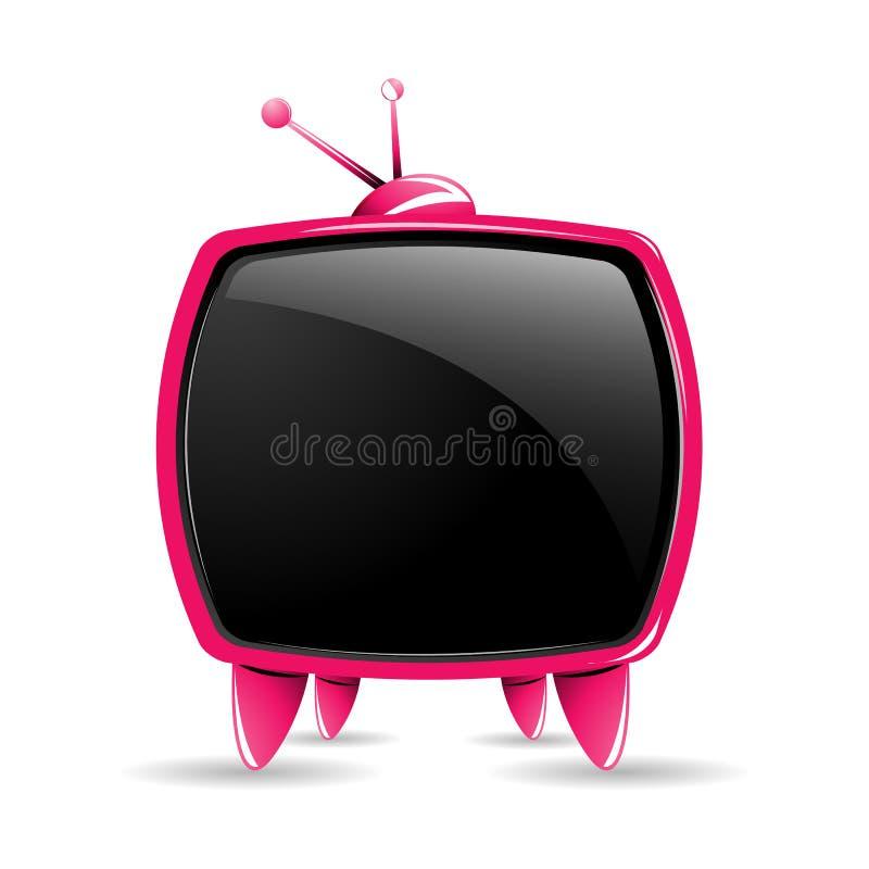 ustawia telewizję royalty ilustracja