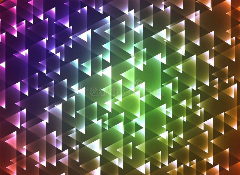 Ustawia triangulars tło ilustracja wektor