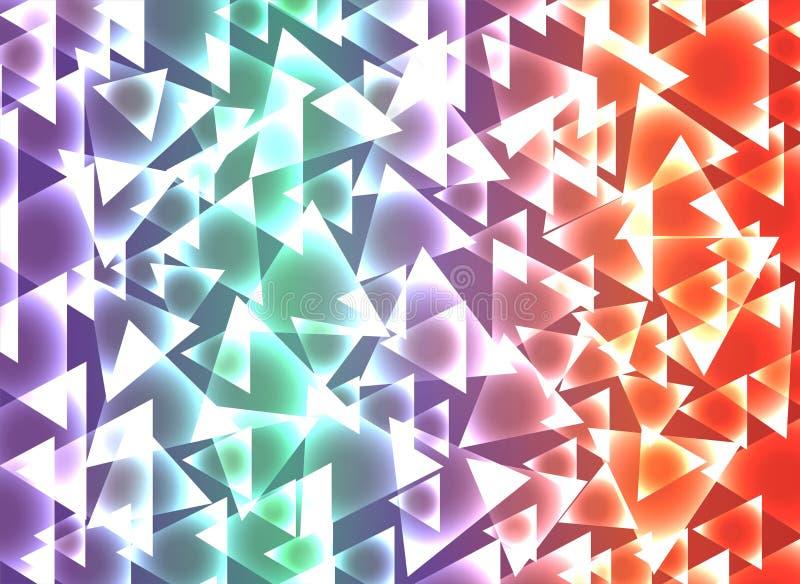 Ustawia triangulars t?o ilustracja wektor