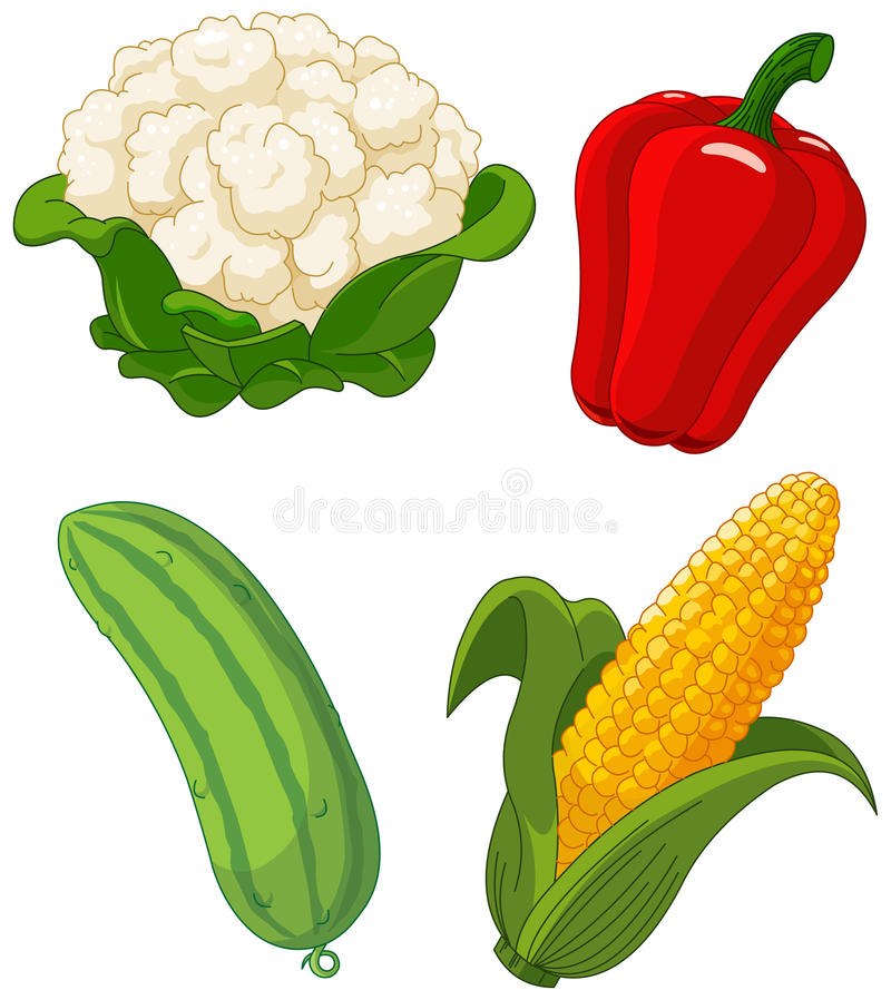 ustawia vegetables2 ilustracji