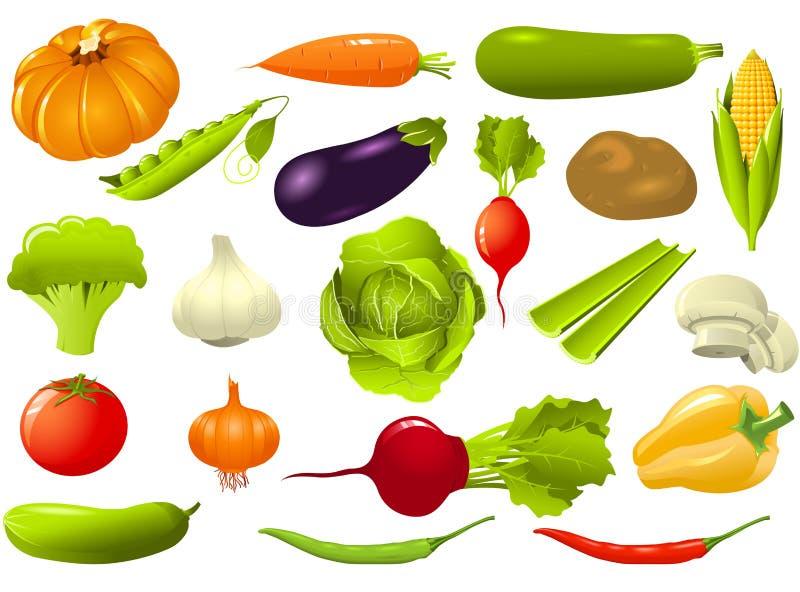 ustawia warzywa royalty ilustracja
