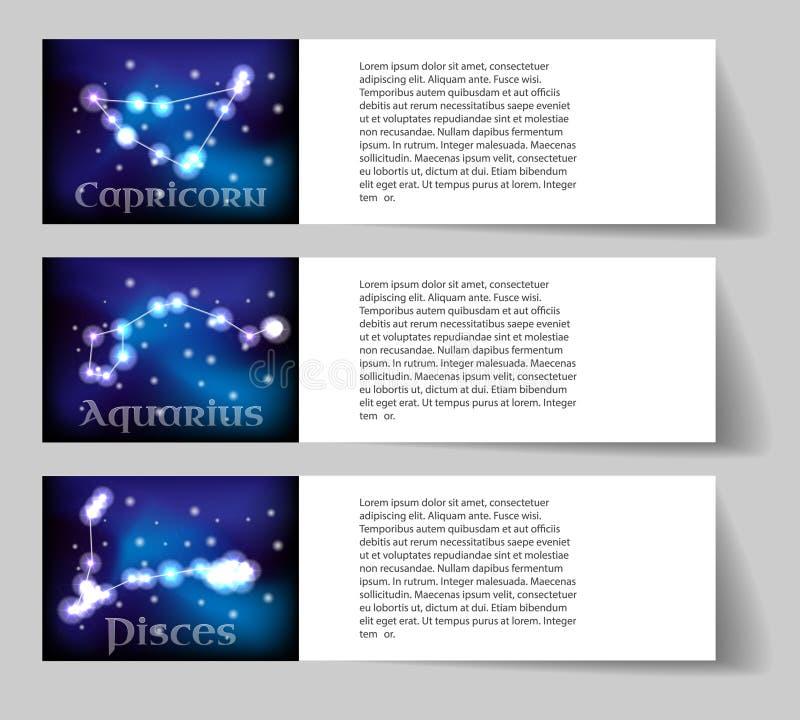 Ustawia zodiaka royalty ilustracja