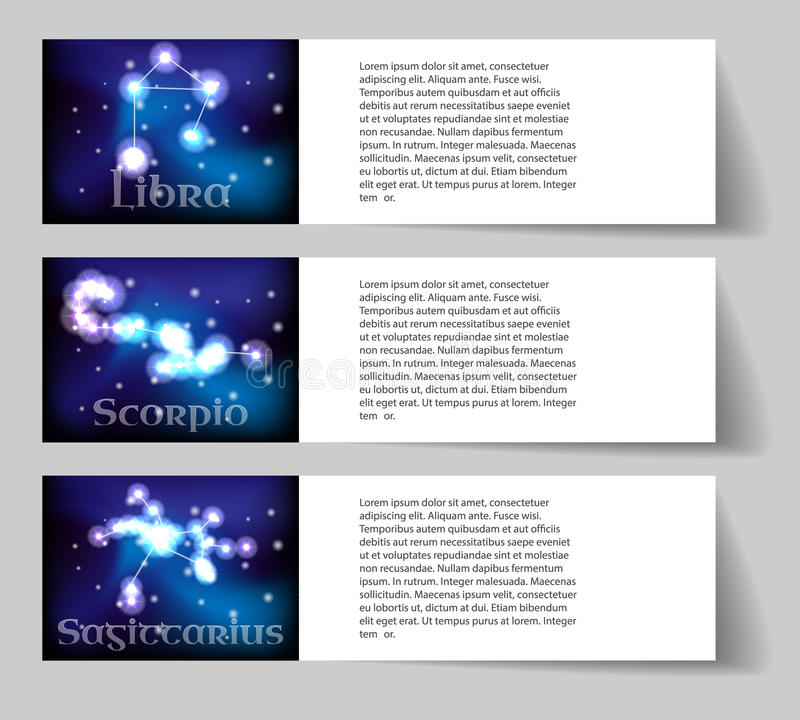 Ustawia zodiaka ilustracja wektor
