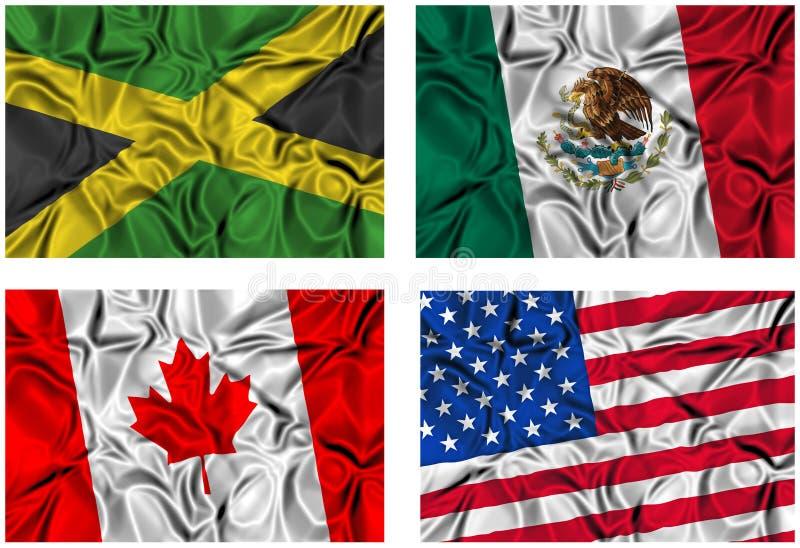 ustawiającej 4 flaga royalty ilustracja