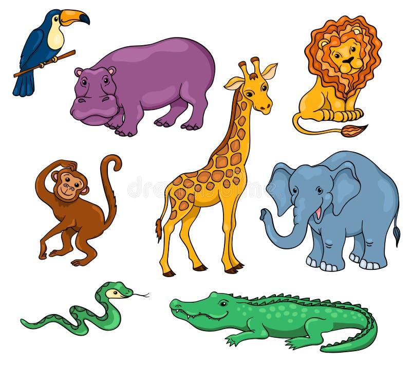 ustawiający afrykańscy zwierzęta ilustracji