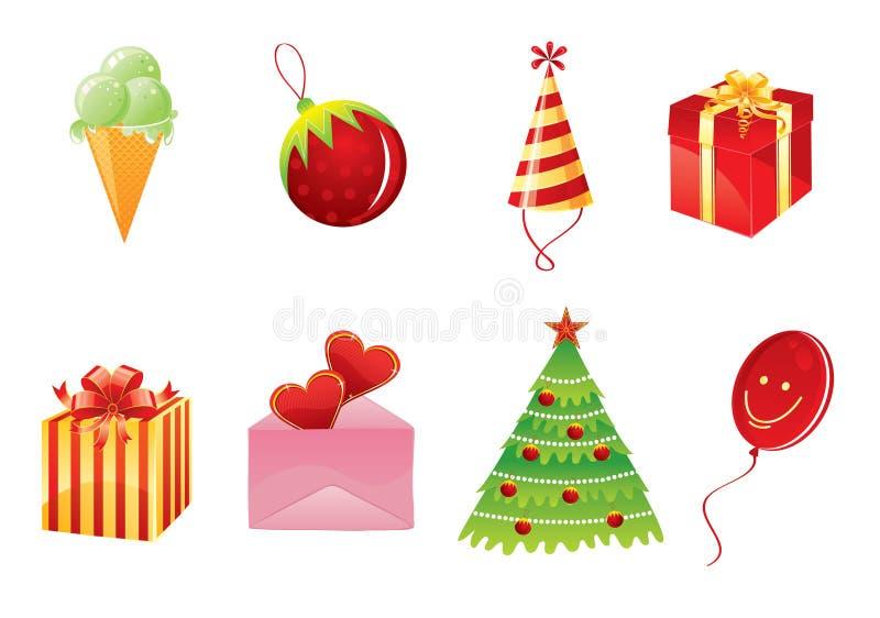 ustawiający Boże Narodzenie przedmioty ilustracji