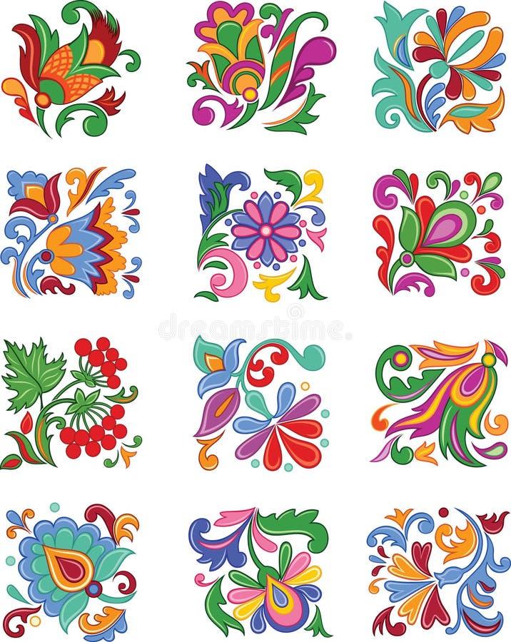 ustawiający dekoracyjni kwiaty ilustracji