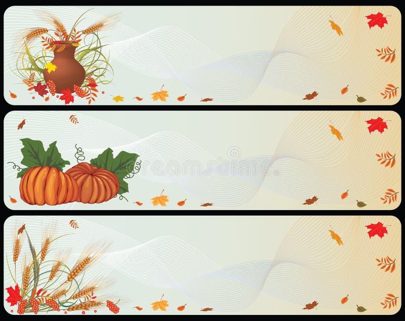 ustawiający jesienni sztandary royalty ilustracja