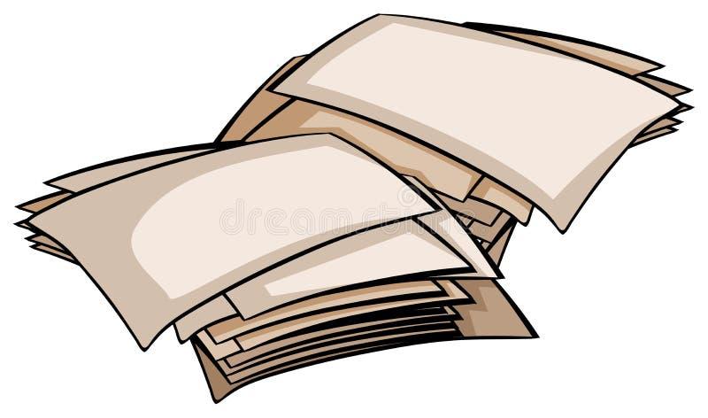 ustawiający puści papiery royalty ilustracja
