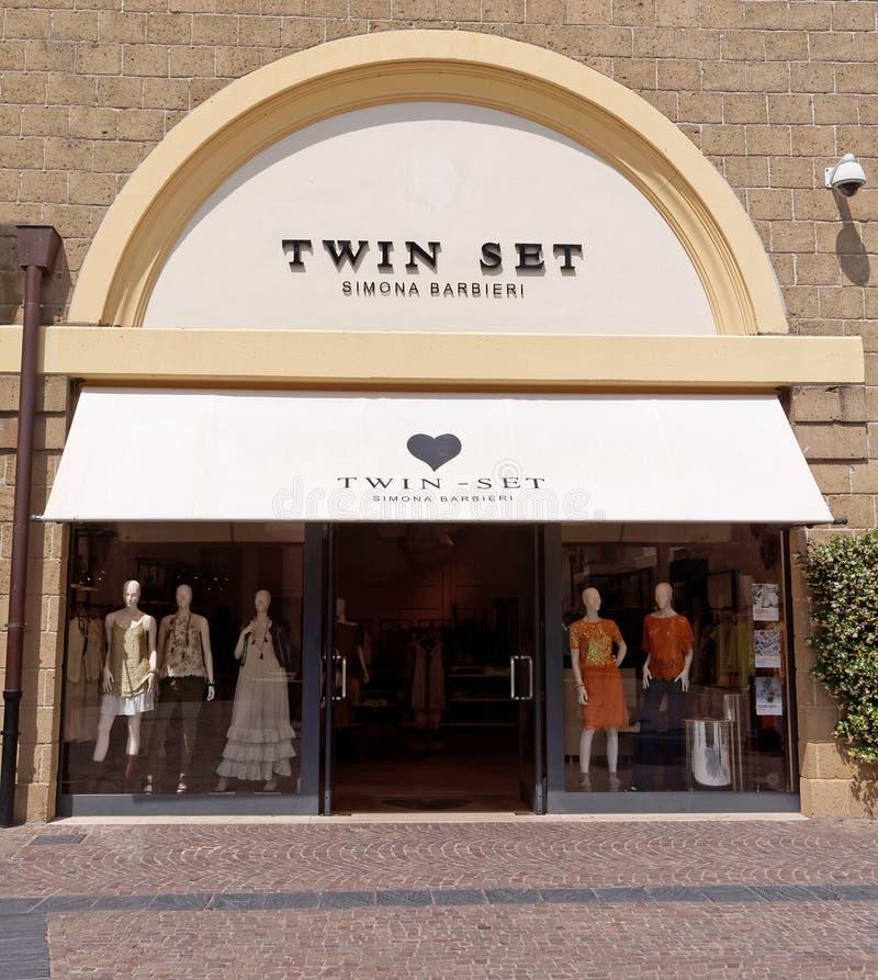 ustawiający Simona Barbieri sklep w Rzym, Włochy fotografia stock