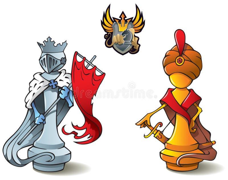 ustawiający szachowi królewiątka royalty ilustracja