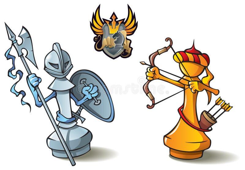 ustawiający szachowi pionkowie royalty ilustracja
