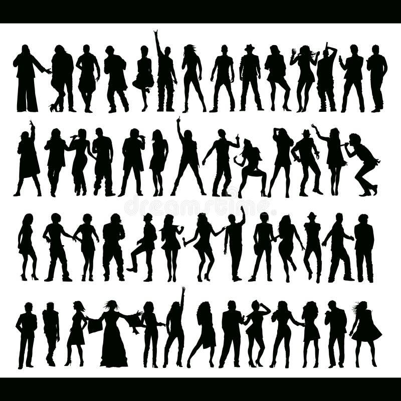 ustawiających śpiewów dancingowi nowi ludzie ilustracji