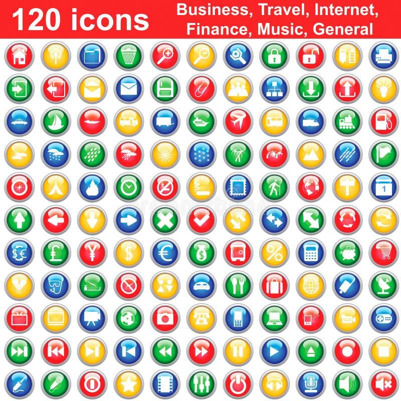 ustawiających 120 ikon
