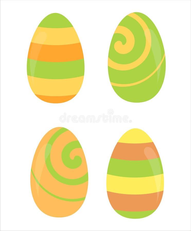 Download Ustawiającego Easter 4 Jajka Ilustracja Wektor - Ilustracja złożonej z wyznaczający, błyszczący: 13340776