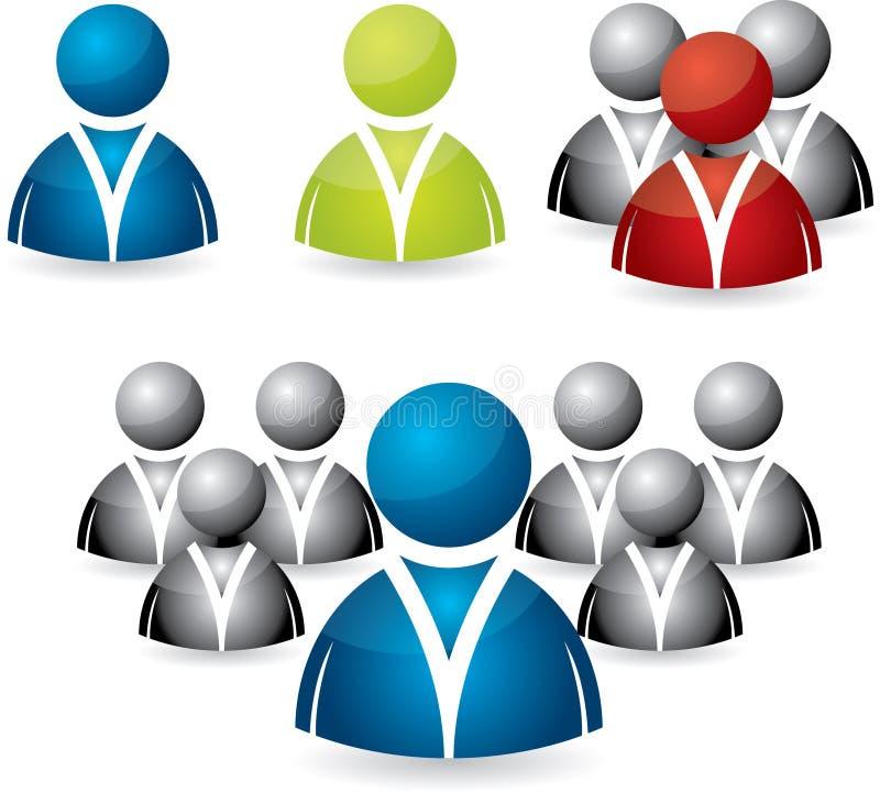 Download Ustawiający Ikon Biznesowi Ludzie Ilustracja Wektor - Obraz: 18924069