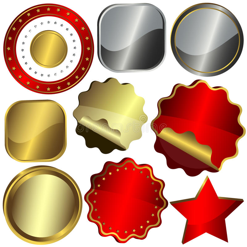 Download Ustawiający Projektów Elementy Ilustracja Wektor - Ilustracja złożonej z złoty, świadectwo: 13341001