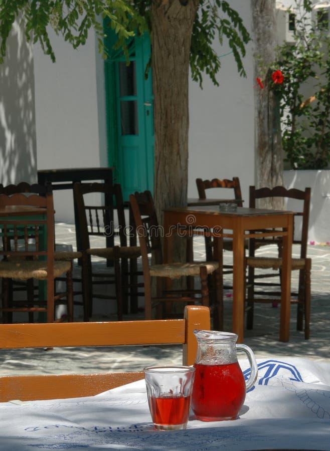 ustawienia taverna grecki fotografia royalty free