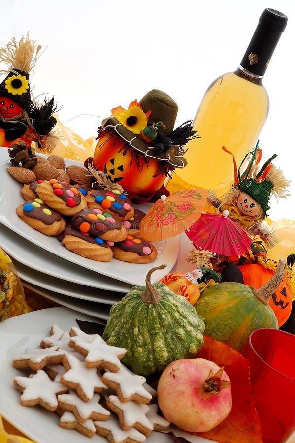 ustawienie tabeli halloween. zdjęcia royalty free