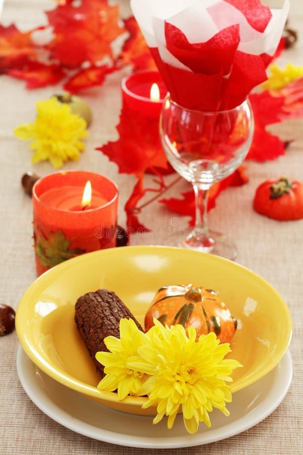 ustawienie tabeli jesieni zdjęcia stock