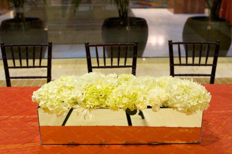 ustawienie tabeli luksusowy przyjęcie ślub fotografia royalty free