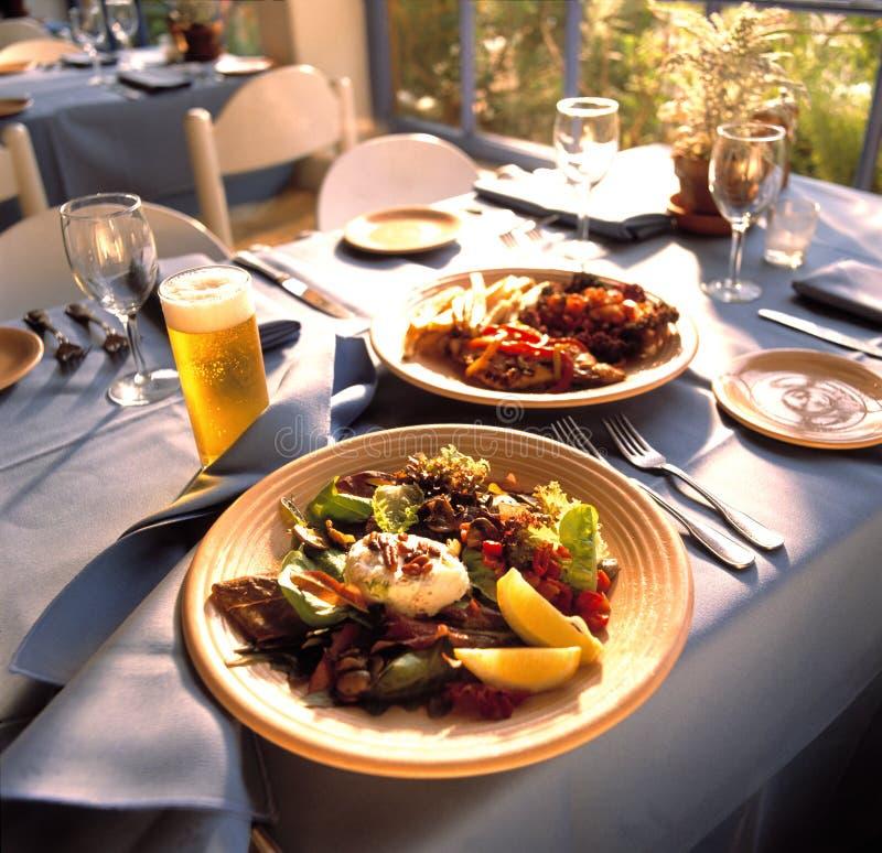 ustawienie tabeli restauracji obrazy royalty free
