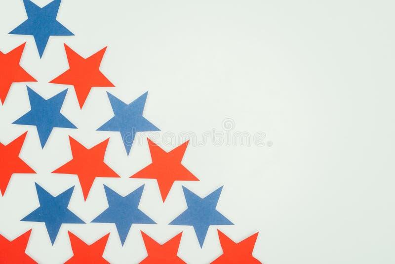 Ustawione gwiazdy odizolowywać na popielatym, prezydenta dnia pojęcie obrazy royalty free