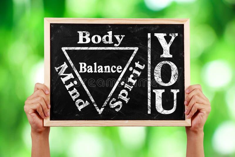 Usted balanza de la mente del alma del alcohol del cuerpo imagen de archivo