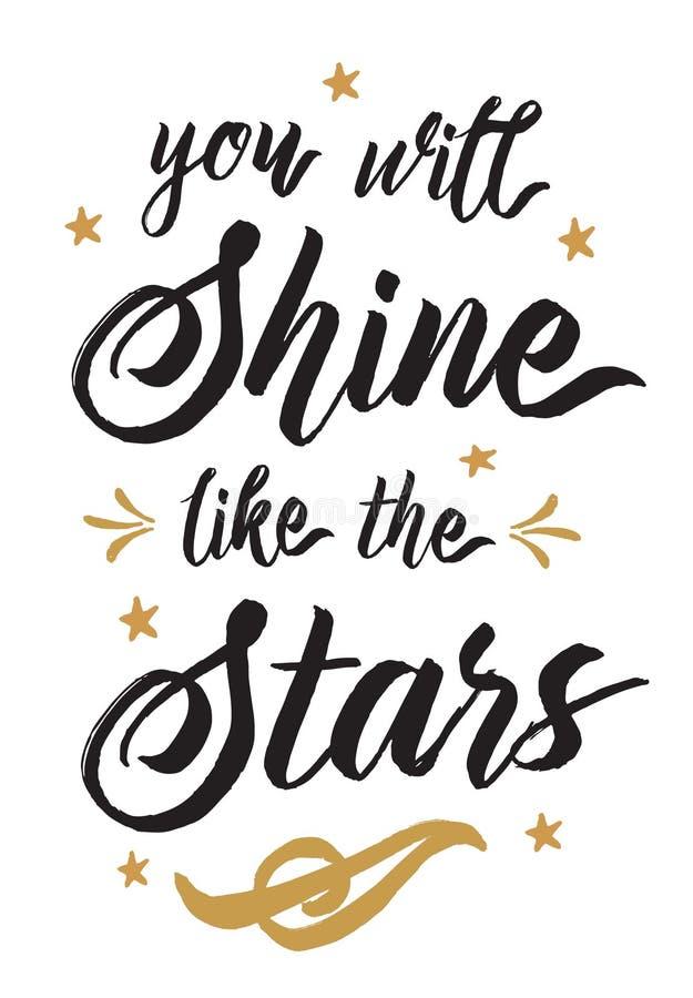 Usted brillará como las estrellas libre illustration