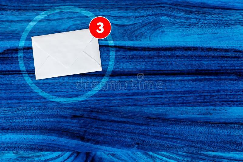 Usted consiguió concepto del correo en azul stock de ilustración