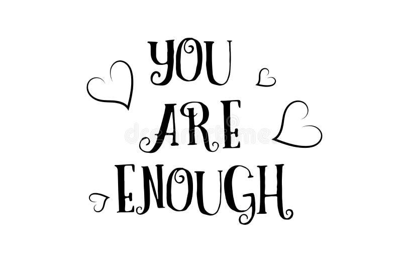 usted es bastante diseño del cartel de la tarjeta de felicitación del logotipo de la cita del amor stock de ilustración